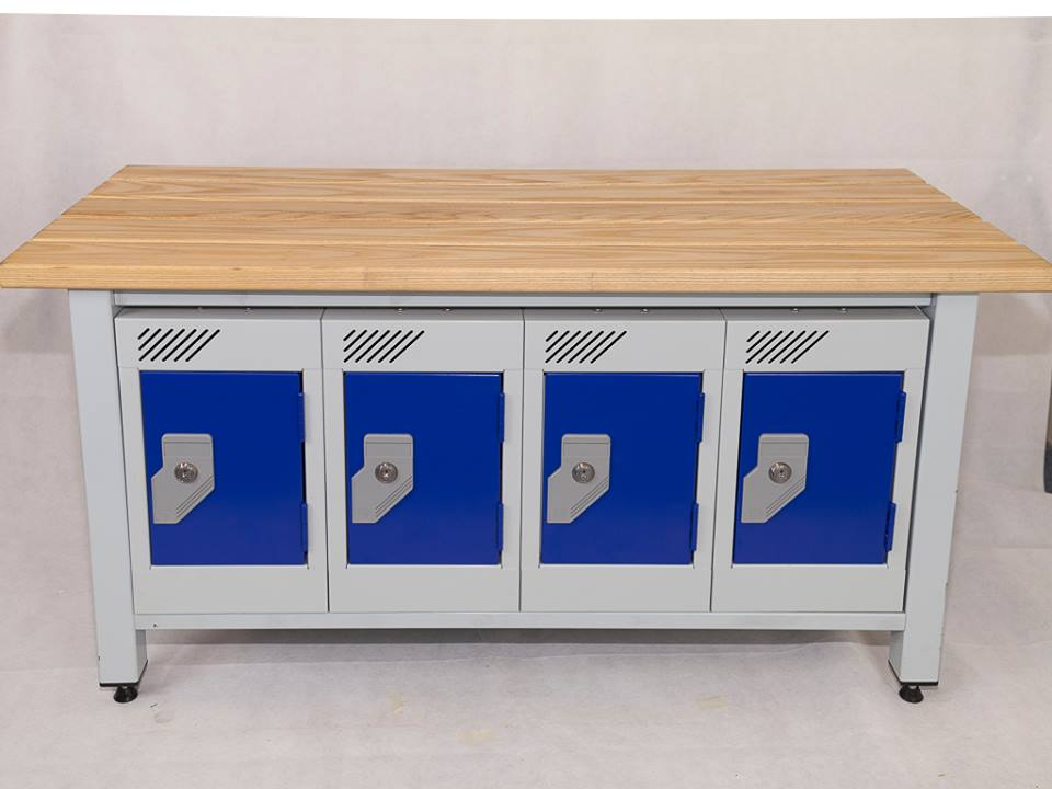 Bench Seating Including Integrated Wallet Lockers