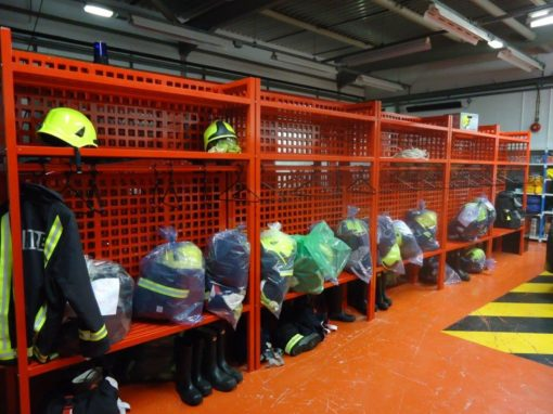Turnout gear storage racks
