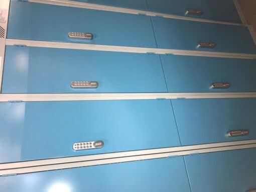 Lockers with combination locks