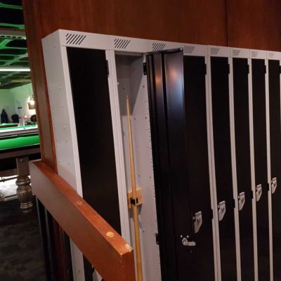 Snooker cue lockers