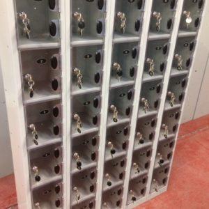 Mini Wallet lockers with perspex doors
