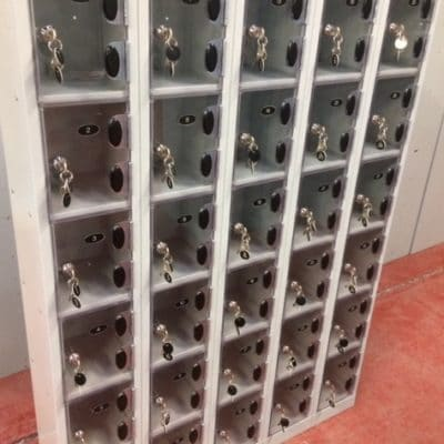 Mini Wallet lockers with perspex doors