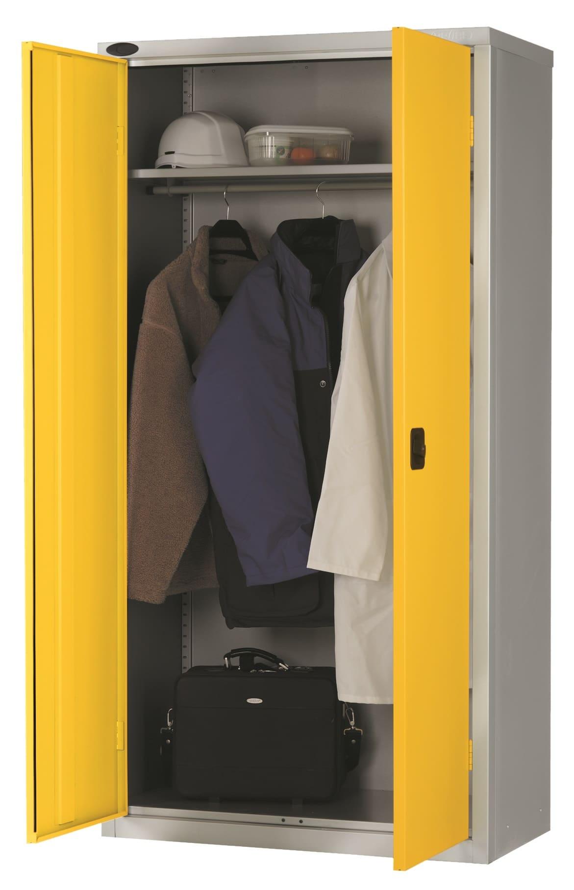 timeless design 2a949 23bec Probe Office Cupboard Wardrobe With Single Shelf & Hanging Rail