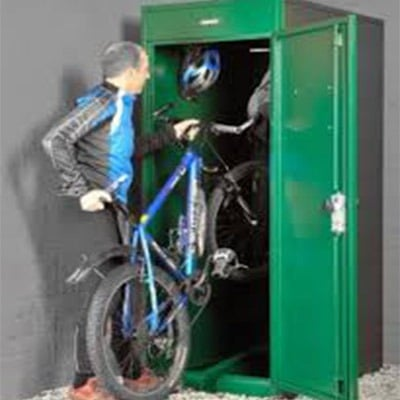 Vertical Bycycle Storage By Premier Lockers