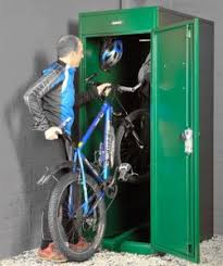 vertical bike locker premier lockers