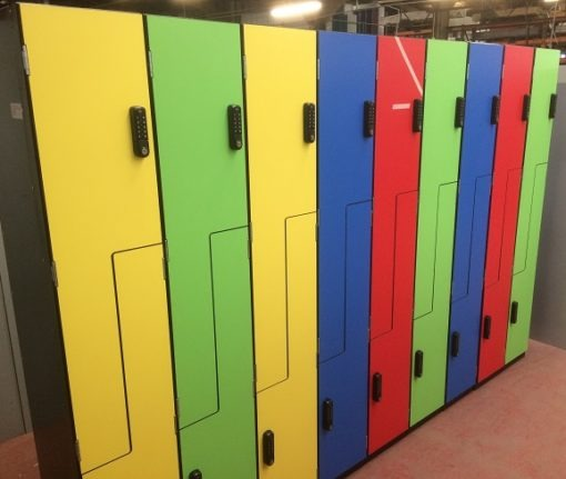 Z Lockers with Laminate doors