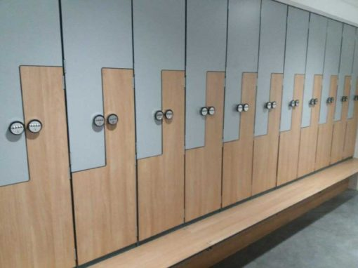 Z Lockers with Laminate doors