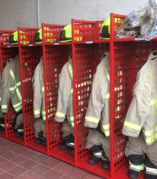 fire and Rescue Turnout Gear storage racks