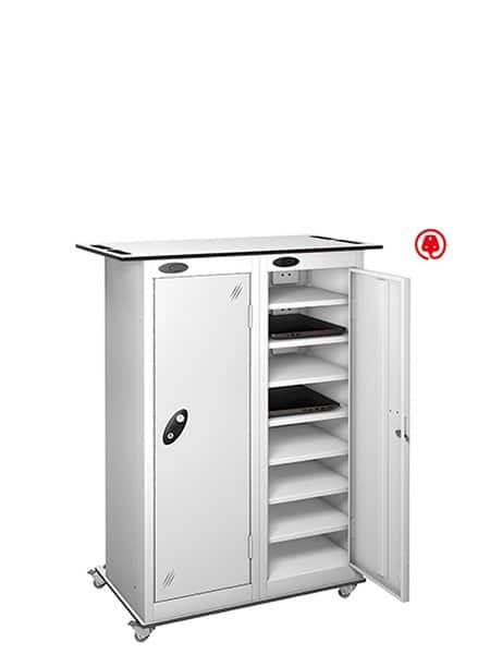 Laptop trolley lockers